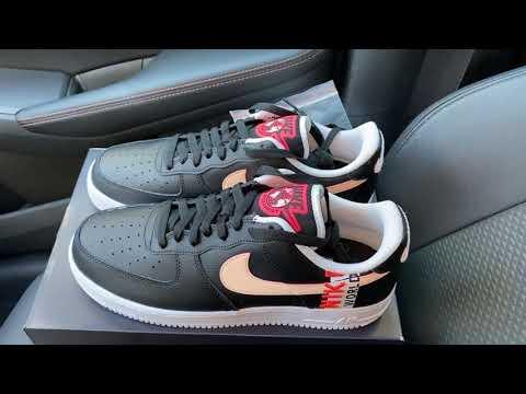 Nike Air Force 1 Low Worldwide Black Crimson sneakers