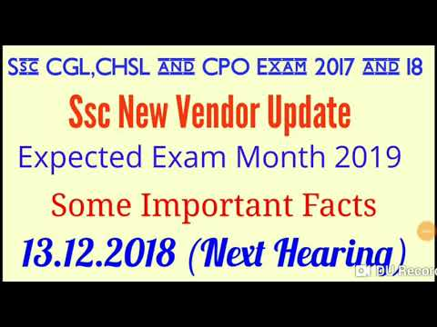 Ssc New Vendor Update and Expected Exam Month