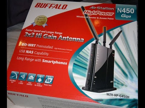 how to setup Buffalo Airstation nfiniti high power wzr-hp-g450h with ur  Router