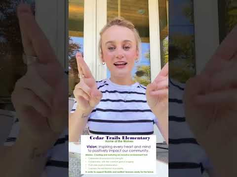Preview image for Cedar Trails Vision and Mission in American Sign Language (ASL))