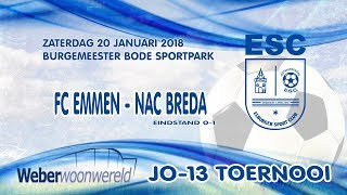 Weber Woonwereld JO13 toernooi '18 - FC Emmen - NAC Breda