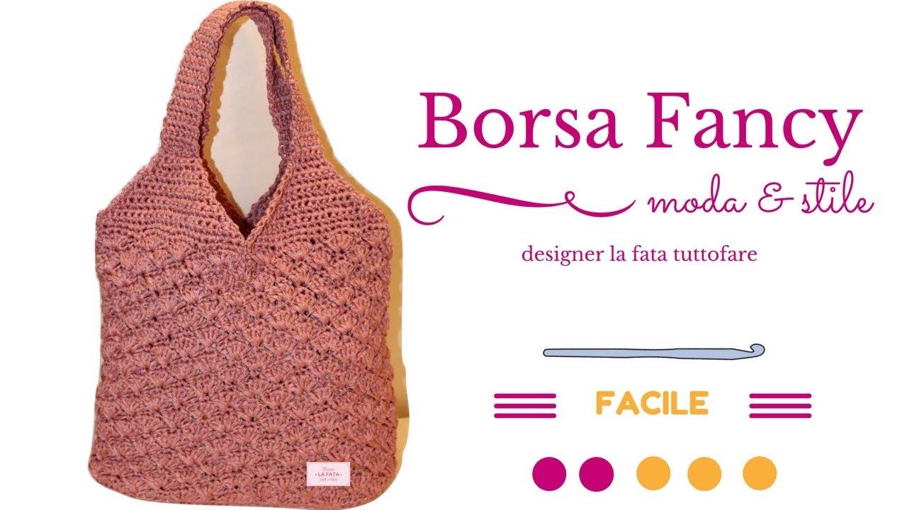 bf7e360127 TUTORIAL:borsa Fancy/ punto ventaglio/fondo ovale***lafatatuttofare ...