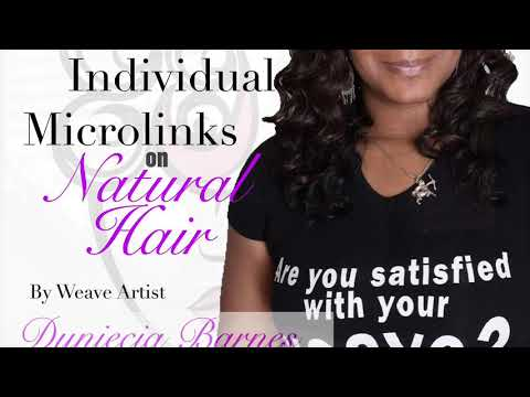 iTip Microlink Install on Natural Hair