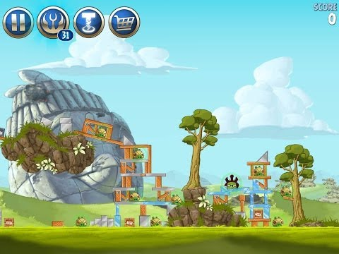 Angry Birds Star Wars 2 Level B3-17 Battle of Naboo 3-Star Walkthrough