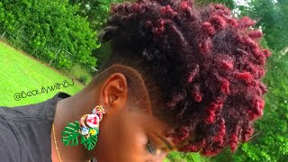 I DYED MY HAIR RED WITH NO BLEACH | Natural Tapered Hair
