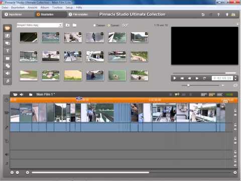 Beispiel Videosequenz Teil 1 in Pinnacle Studio 14 und 15