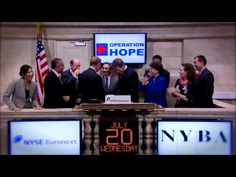 Operation HOPE Rings NYSE Euronext Closing Bell