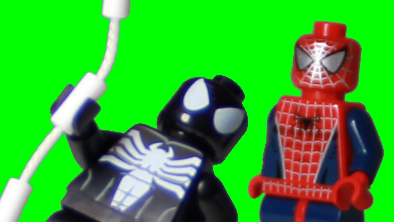 Lego Black Spider Man Venom Transformation In Stop Motion