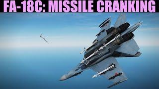 FA-18C Hornet: BVR Offensive Missile Cranking Tutorial   DCS WORLD