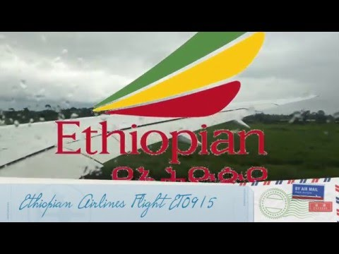 Ethiopian Boeing 787 Takeoff Douala, Cameroon