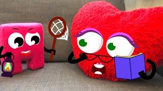 Маша и Куби играют в прятки с сюрпризами. Мультики для детей.