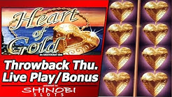 Heart of Gold Slot - Throwback Thursday Live Play and Free Spins Bonuses