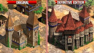 Age of Empires 2: Definitive Edition - All Wonders Comparison - Original vs Remaster