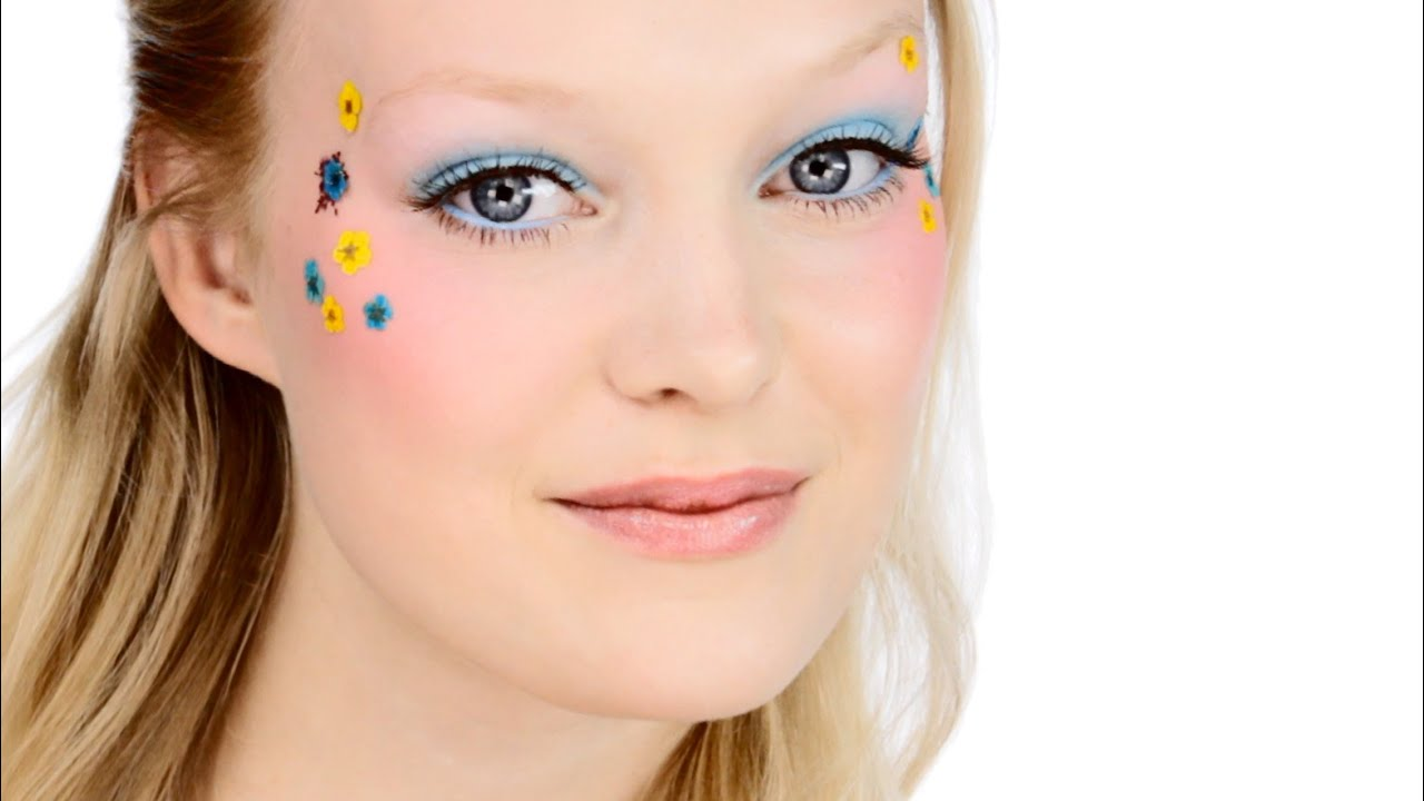 Pretty Flower Child Festival Makeup Look