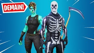 THE BACK OF SKINS SKULL TROOPER HALLOWEEN on FORTNITE BATTLE ROYALE!