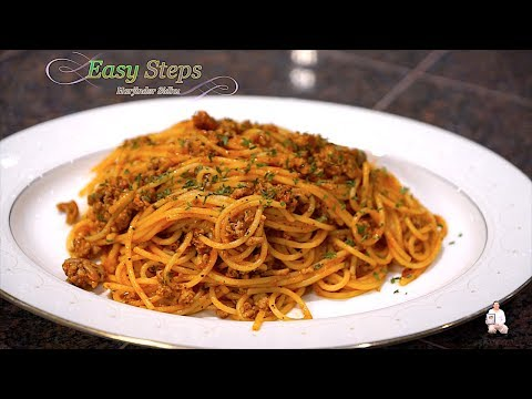 Spaghetti With Ground Turkey In Indian Style