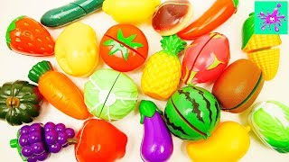 Learn Names of Fruits and Vegetables | Toy Velcro Fruits and Vegetables | Video for Kids