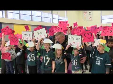 Officer Plum Surprise Retirement Party at Pennypack Elementary School