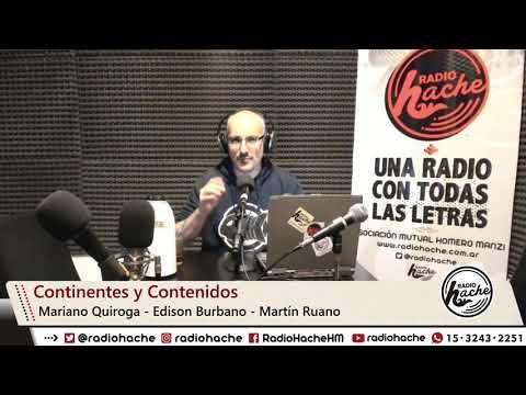 Continentes Y Contenidos VI  En Radio Hache 04-06-2019