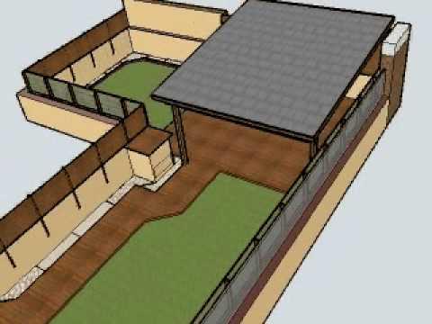 Dise o de porche valla tarima y cesped en terraza de - Porche diseno ...