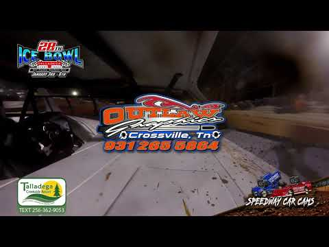 #72S Steve Russell - Crate Late Model - 1-6-19 Talladega Short Track - In Car Camera