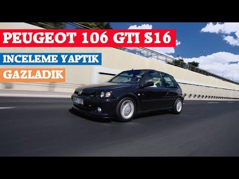 PEUGEOT 106 GTI S16 İNCELEMESİ YAPTIK/GAZLADIK   ANGARAGE