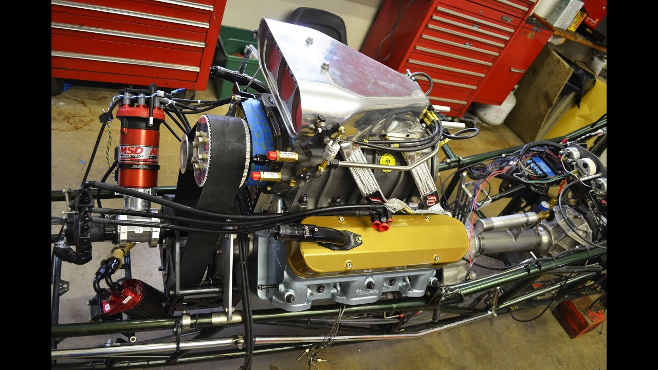 Dragster Wiring Harness Swing Cable Engine Front Progress Week Two Of Youtube On