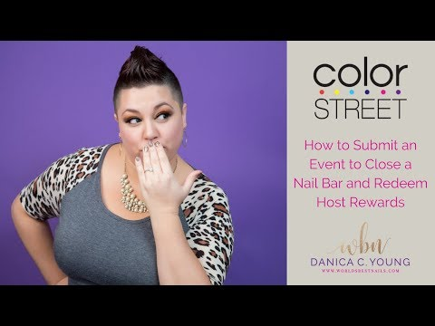 Color Street Back Office Training: How to Submit an Event to Close a Nail Bar