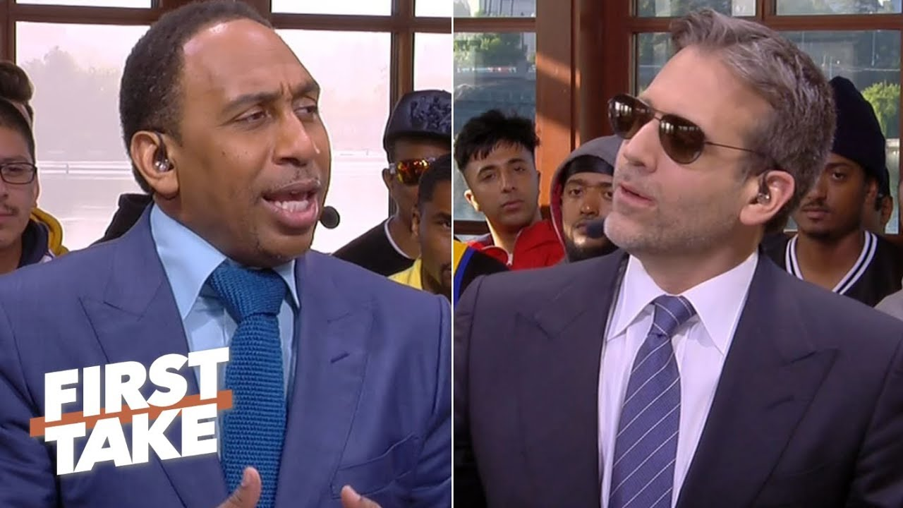 Game 3 predictions: Stephen A. picks the Warriors, Max gives Raptors the edge | First Take