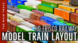 HD: Amazing HO-scale Frisco Railway model train layout makes its last run Video