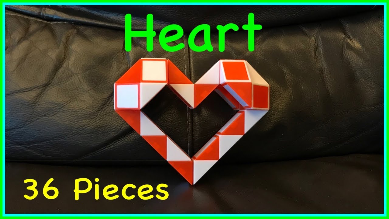 55de6dc172c87 Rubik's Twist 36 or Snake Puzzle 36 Tutorial: How To Make a Heart Shape  Step by Step