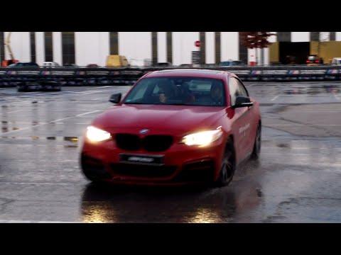 New BMW M235i Drifting on wet floor  YouTube