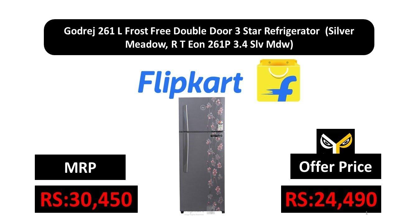 ac851060966 Godrej 261 L Frost Free Double Door 3 Star Refrigerator (Silver Meadow