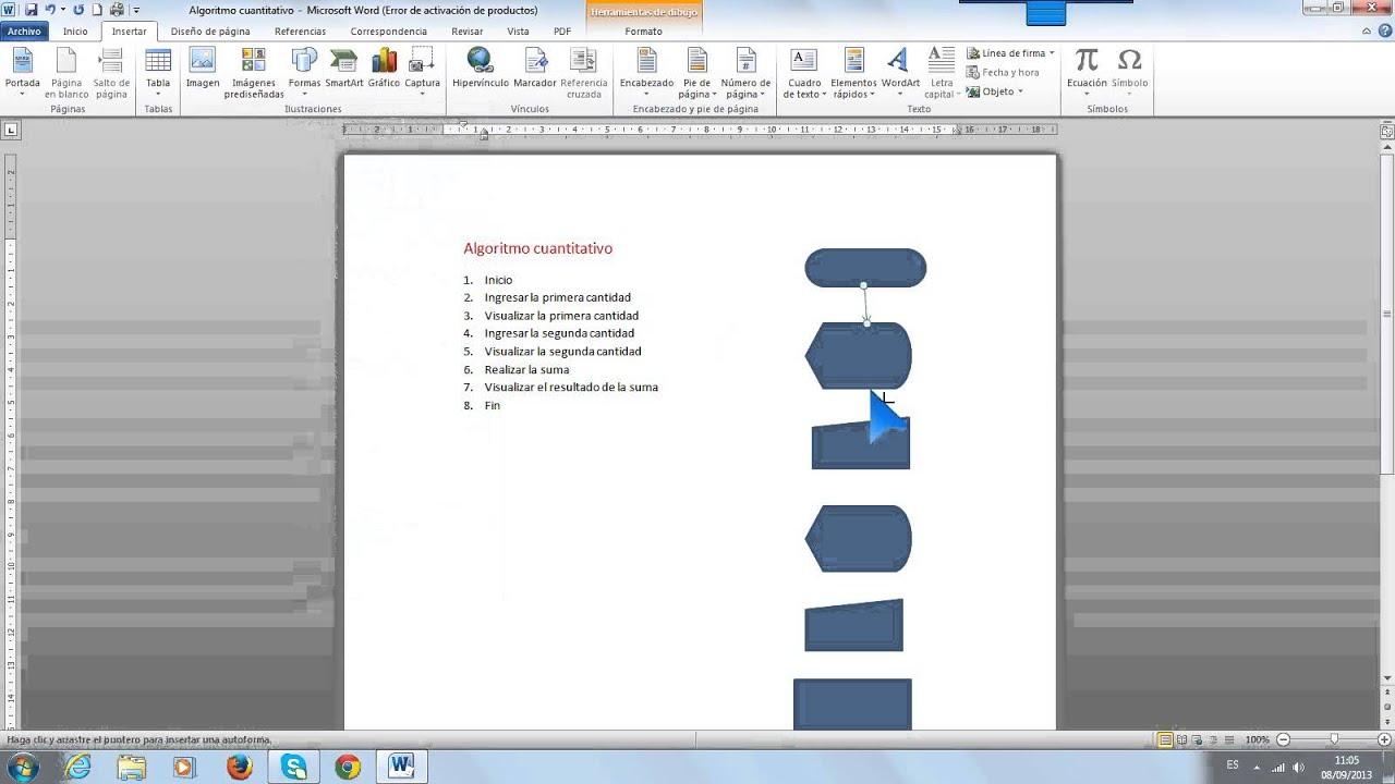 Como hacer un diagrama de flujo en word youtube como hacer un diagrama de flujo en word ccuart Images