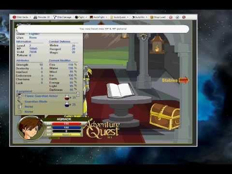 NEW AQ -Adventure Quest Trainer w/ Guardian Mode* April 2013 -Login with Server Cap