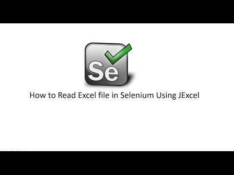 How to read excel file in Selenium Webdriver using JExcel API