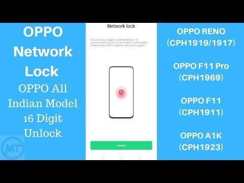 OPPO A1k Network Unlock | OPPO F11 Network Unlock | OPPO F11 Pro Network Unlock Success Phone