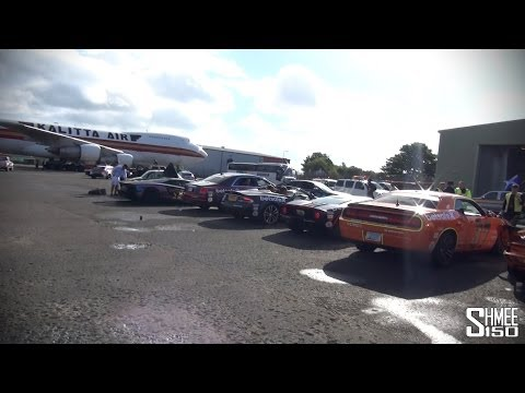 Gumball Cars Unloaded at Prestwick Airport in Scotland