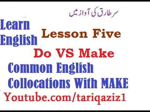 Lesson Five Common English Collocations With MAKE