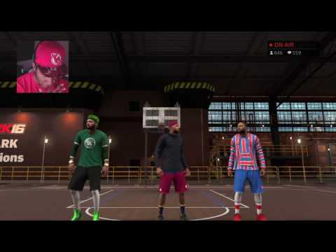 NBA 2K17 MyPARK LIVESTREAM - CHASING LEGEND WITH JUCEMAN AND KING SHAWN! | WIN STREAK KILLERS!