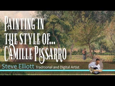 Digital Painting in the style of ... Camille Pissarro