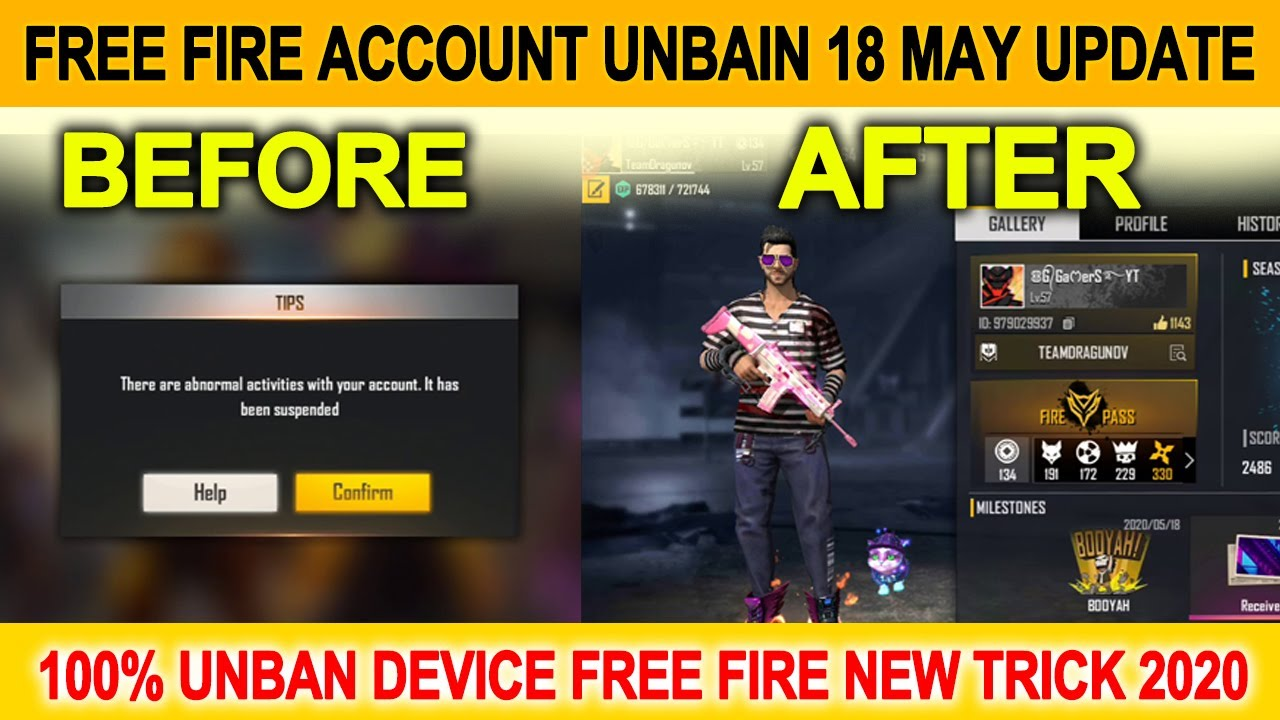 Free Fire Suspended Account Recovery 2020 ह द म How To Unban Free Fire Suspended Account Youtube