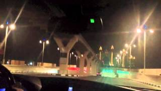 Night TIme Drive by video of The Palm Jumeirah