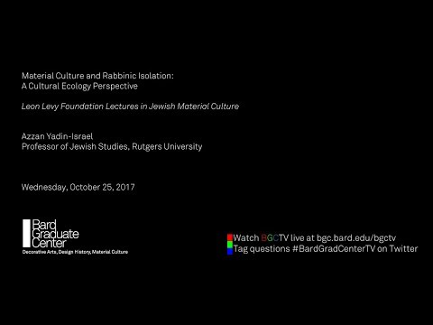 Material Culture and Rabbinic Isolation: A Cultural Ecology