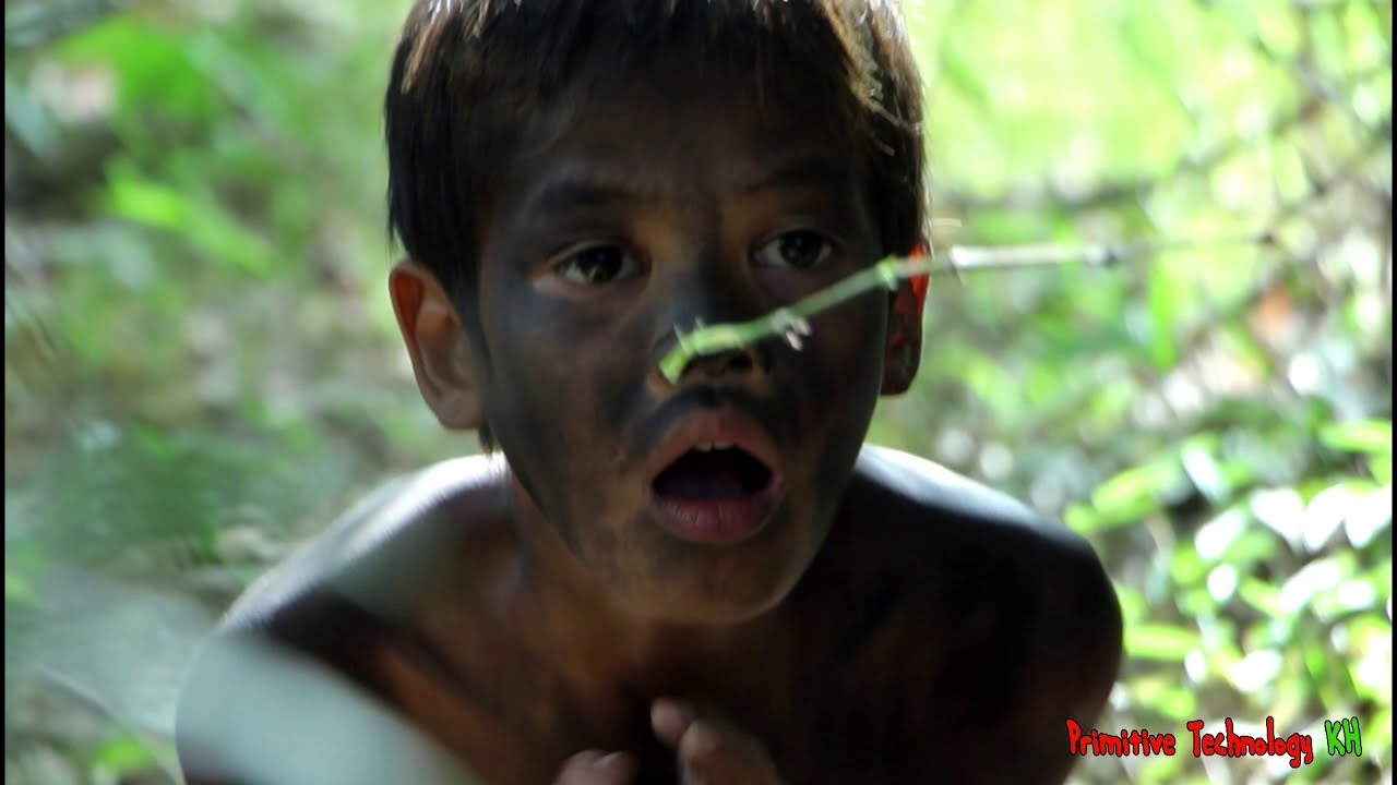Primitive Technology - Eating delicious - Cooking roasted oyster on a rock #53