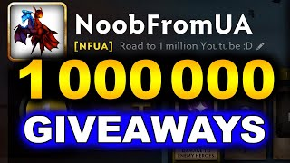 100+ Battle Pass Giveaway - Road to 1 Million NoobFromUA SUBSCRIBERS