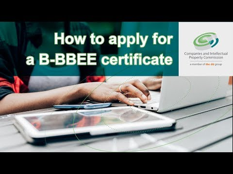 How to apply for a B-BBEE certificate via e-Services