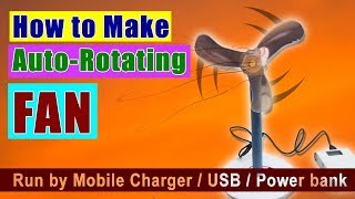 How to Make an Auto-Rotating / Auto Circulating Fan