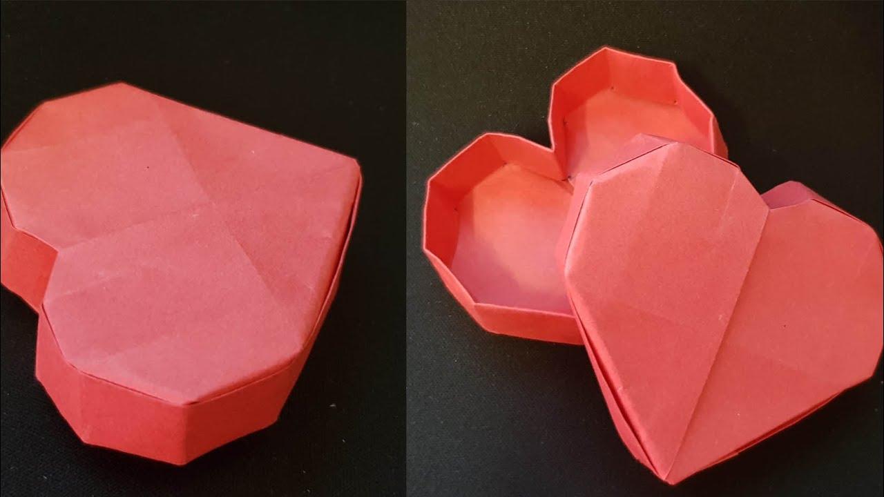 ORIGAMI – Gấp Chiếc Hộp Hình Trái Tim ||  Heart Box