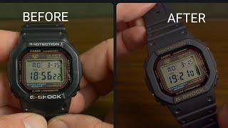 G-Shock bezel and strap change - modding my 12 year old DW-5000